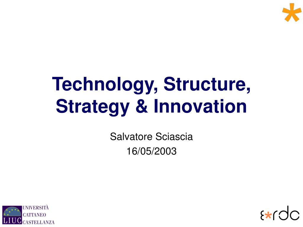 technology structure strategy innovation l.