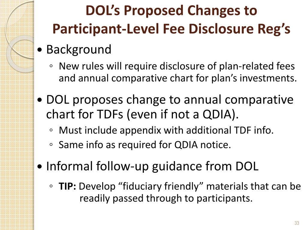 DOL's Proposed Changes to