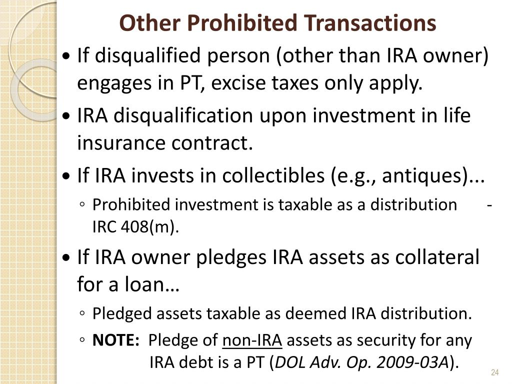 Other Prohibited Transactions