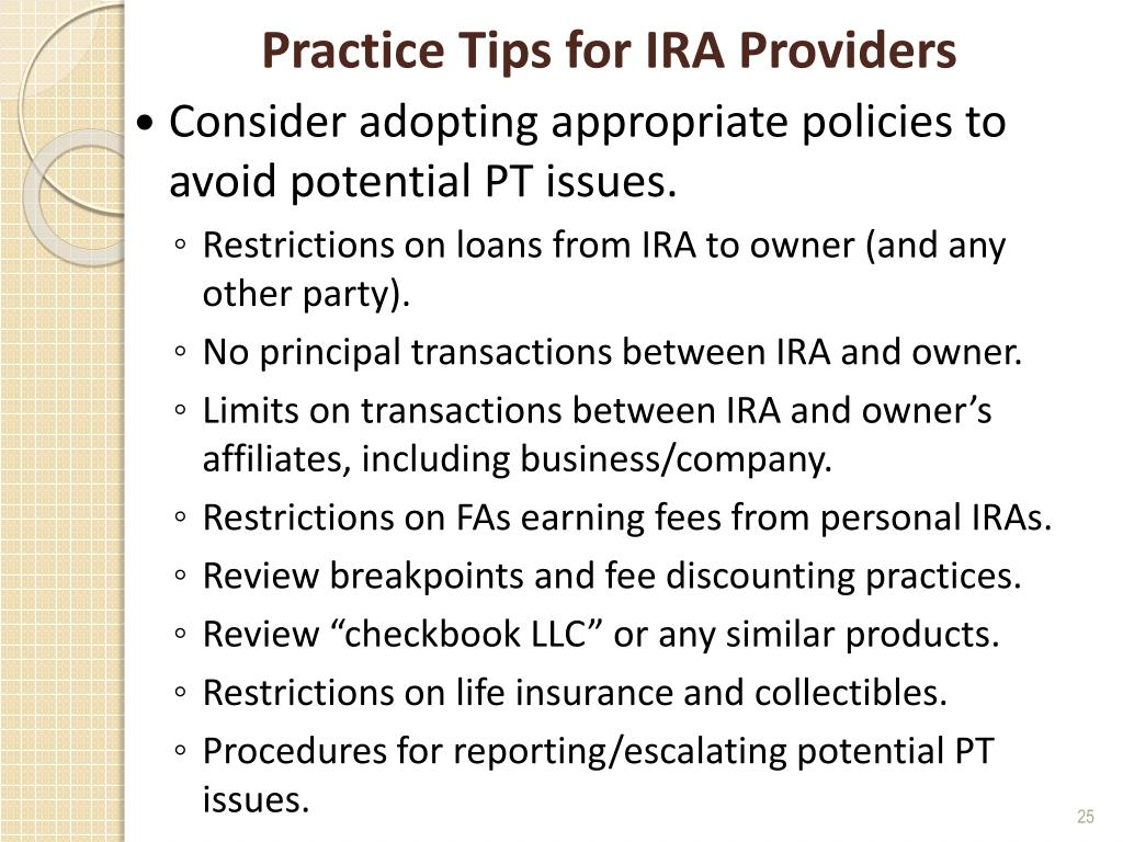 Practice Tips for IRA Providers