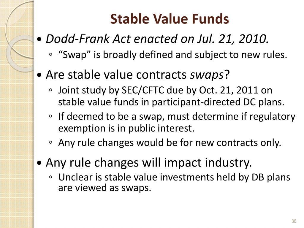 Stable Value Funds