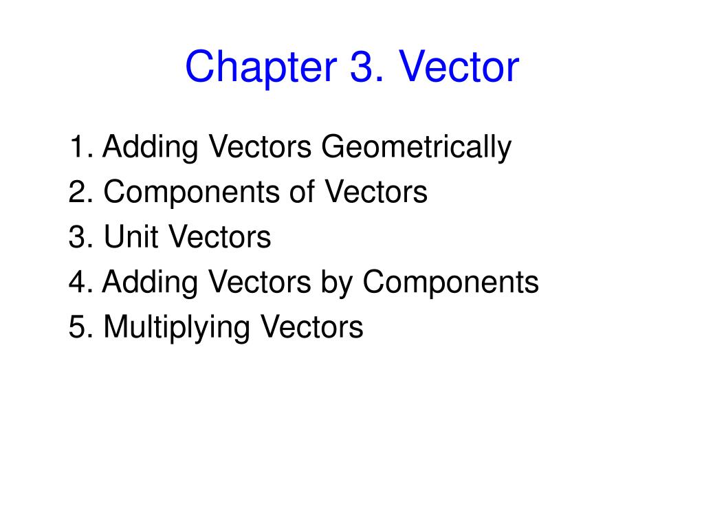 chapter 3 vector l.