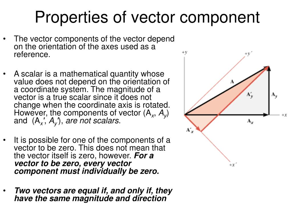 Properties of vector component