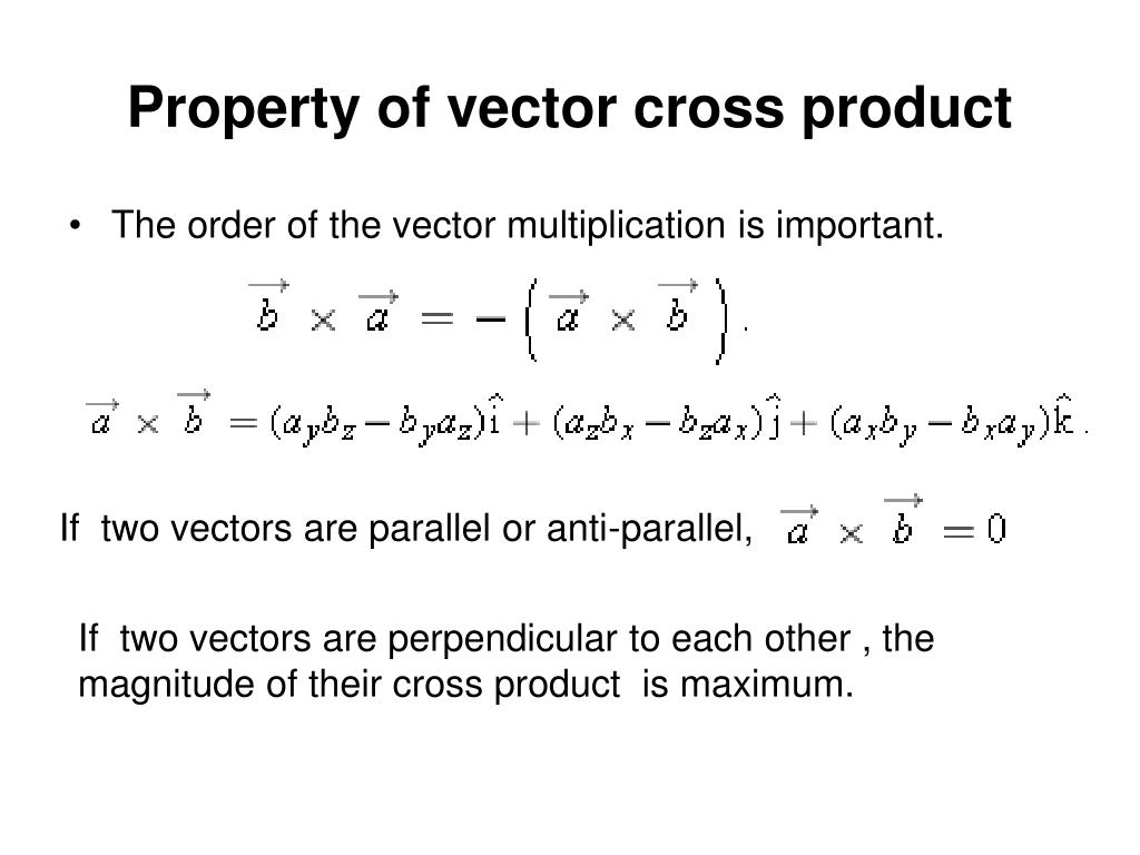 Property of vector cross product