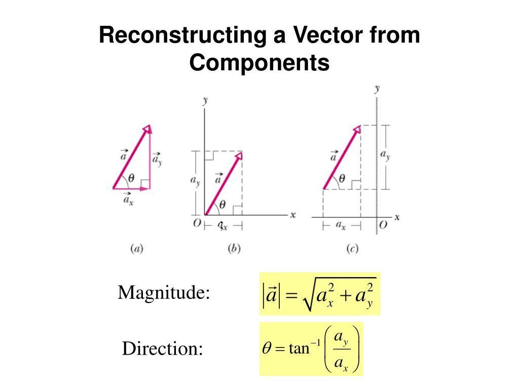 Reconstructing a Vector from Components
