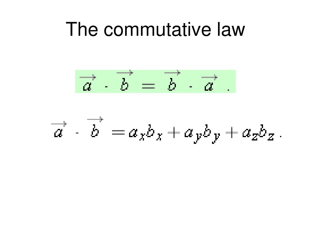 The commutative law