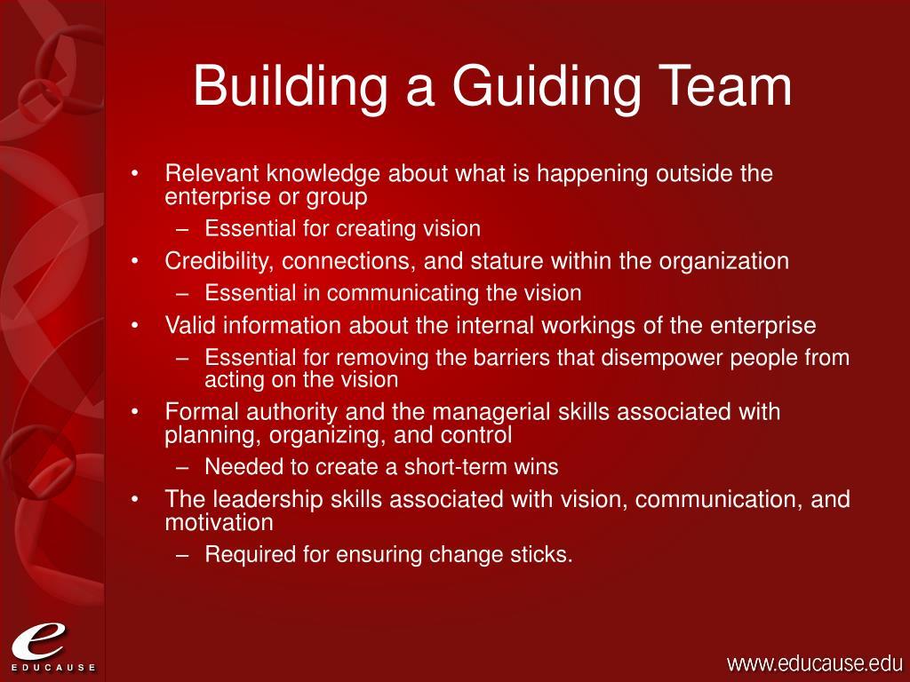 Building a Guiding Team