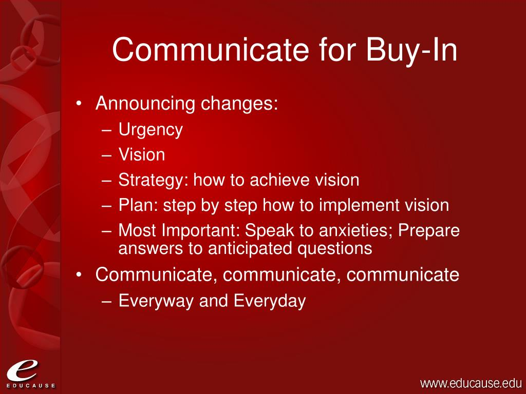 Communicate for Buy-In