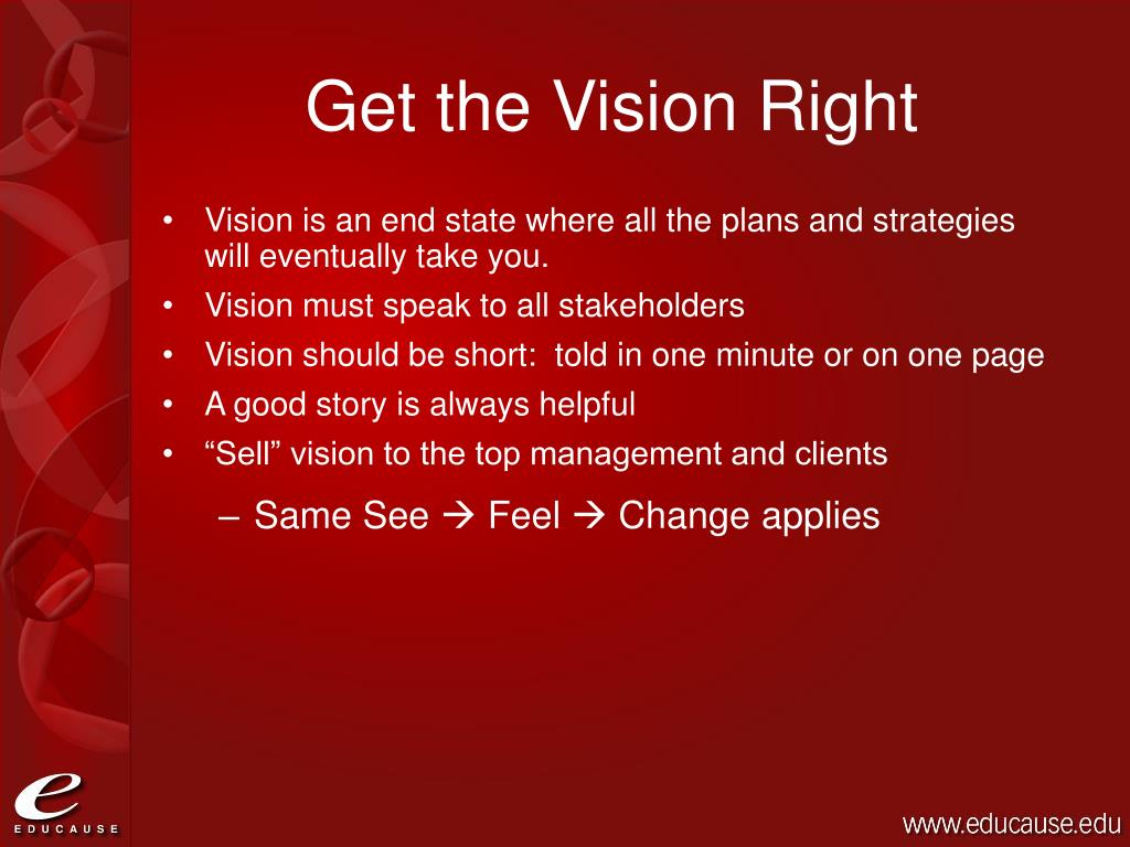 Get the Vision Right