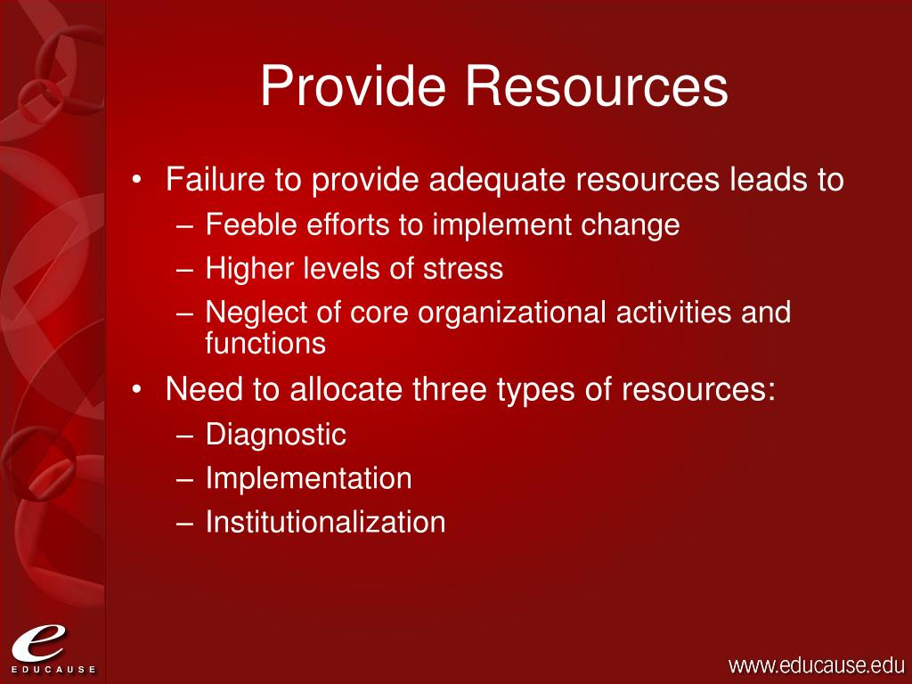 Provide Resources