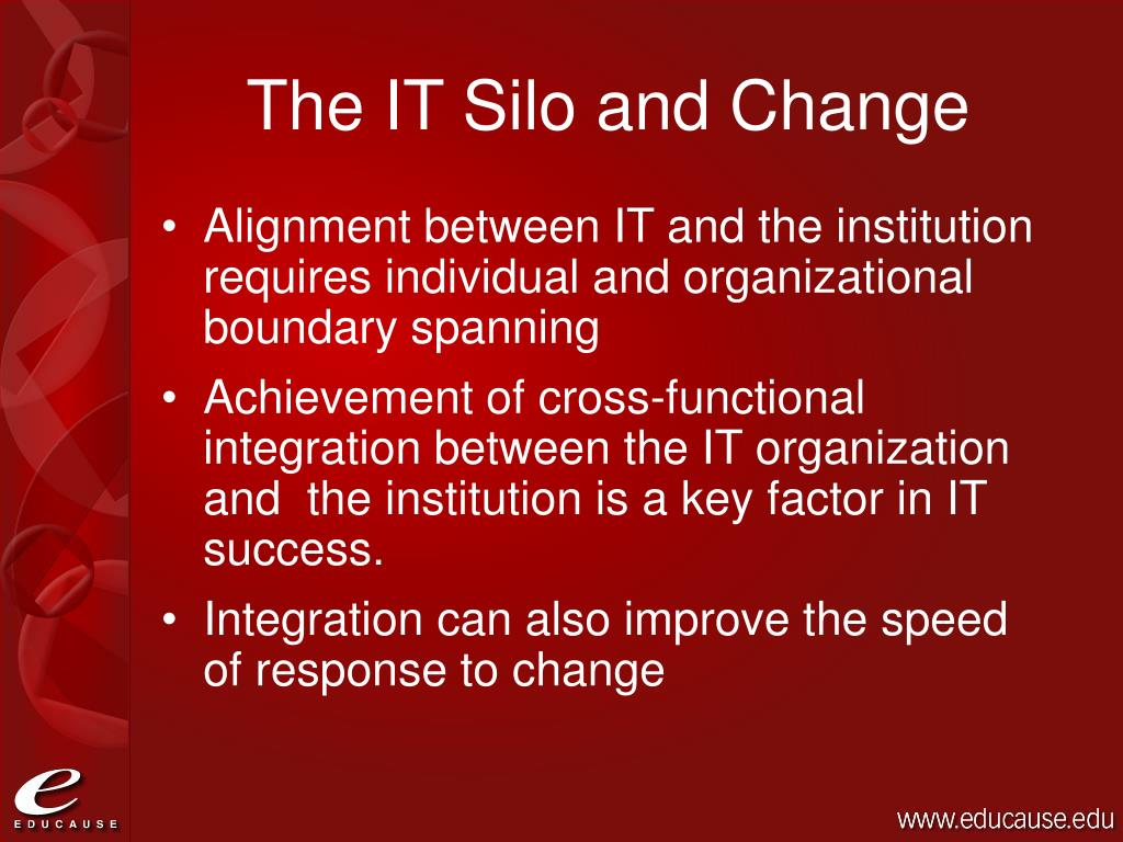 The IT Silo and Change