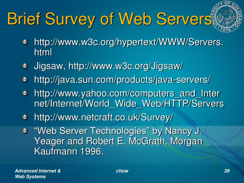 Brief Survey of Web Servers