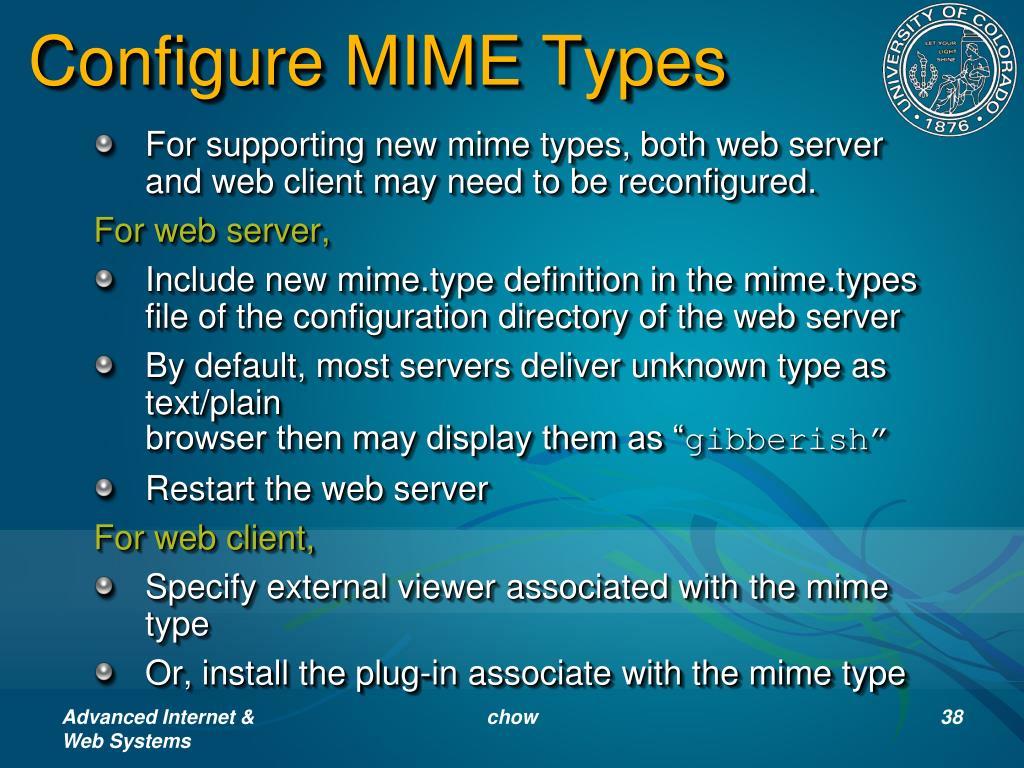 Configure MIME Types