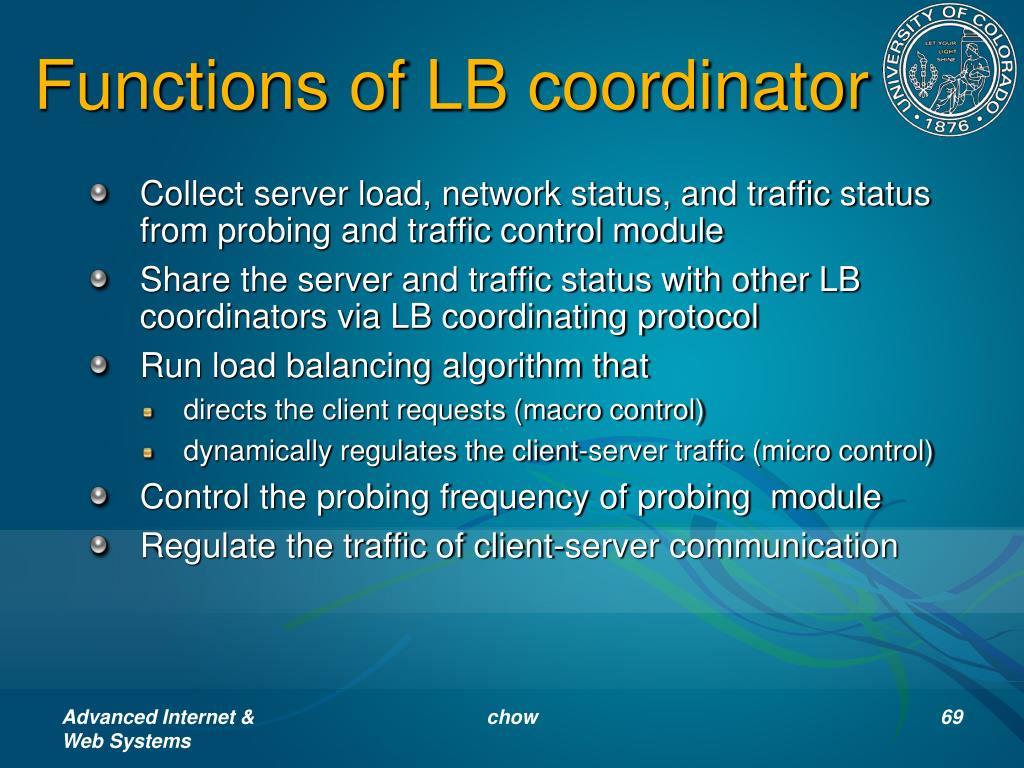 Functions of LB coordinator