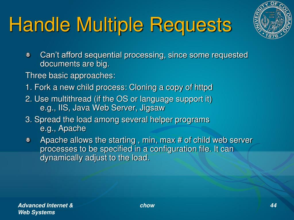 Handle Multiple Requests