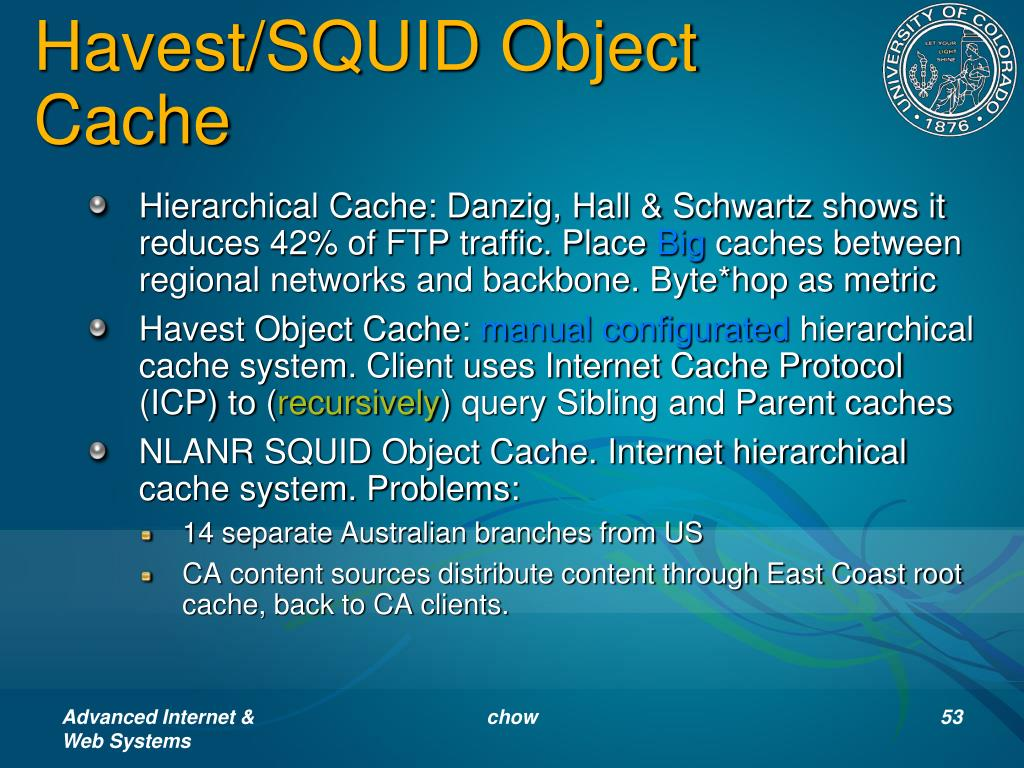 Havest/SQUID Object Cache