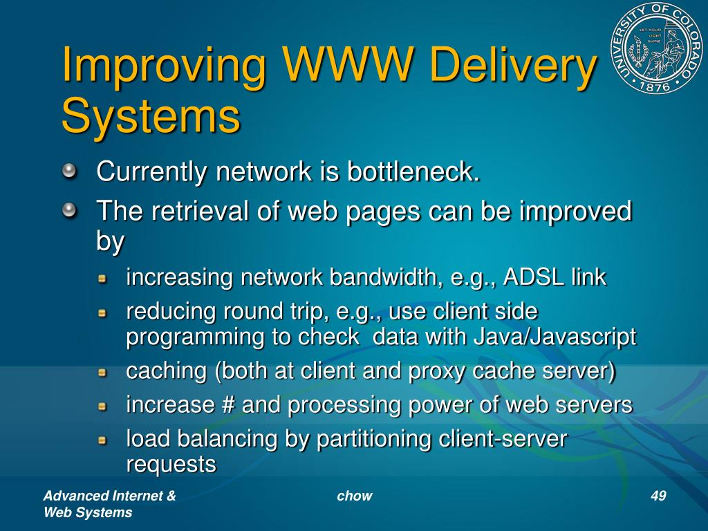 Improving WWW Delivery Systems