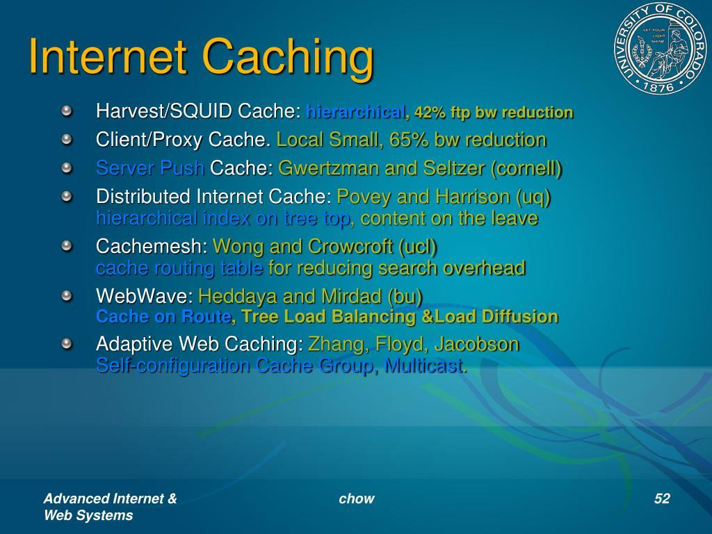 Internet Caching