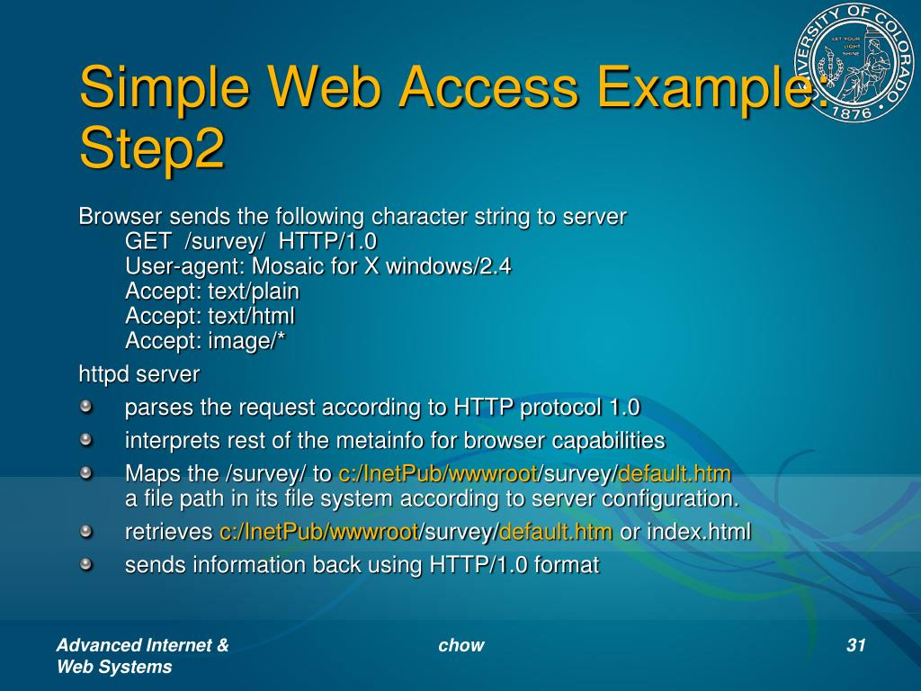 Simple Web Access Example: Step2