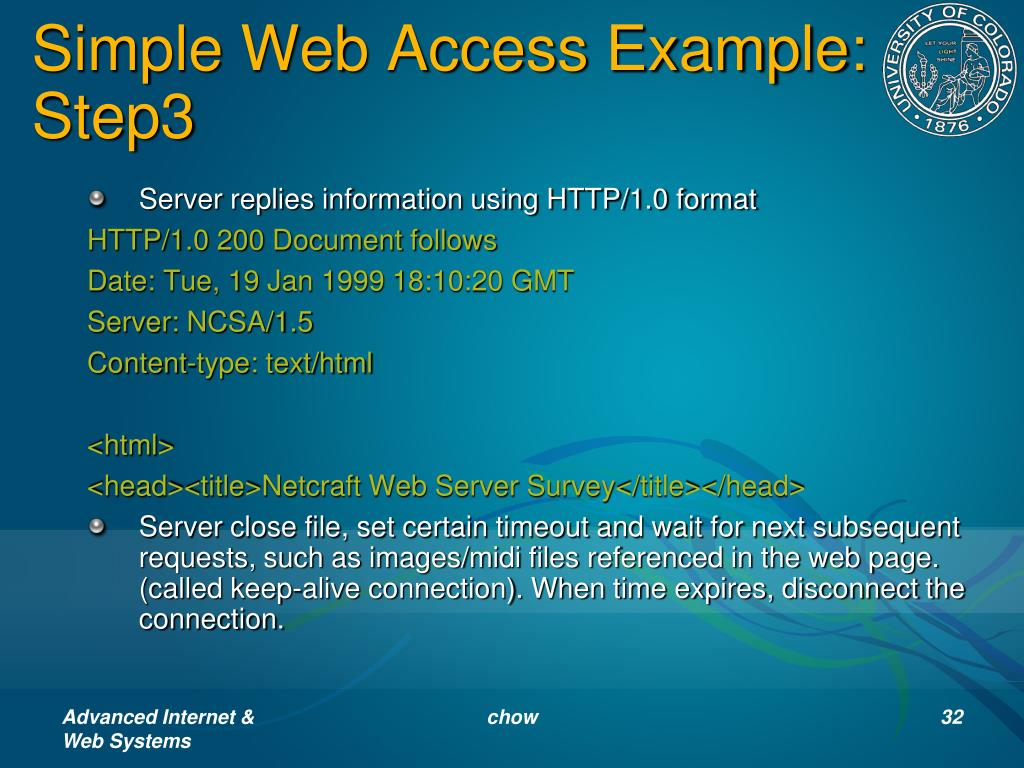 Simple Web Access Example: Step3