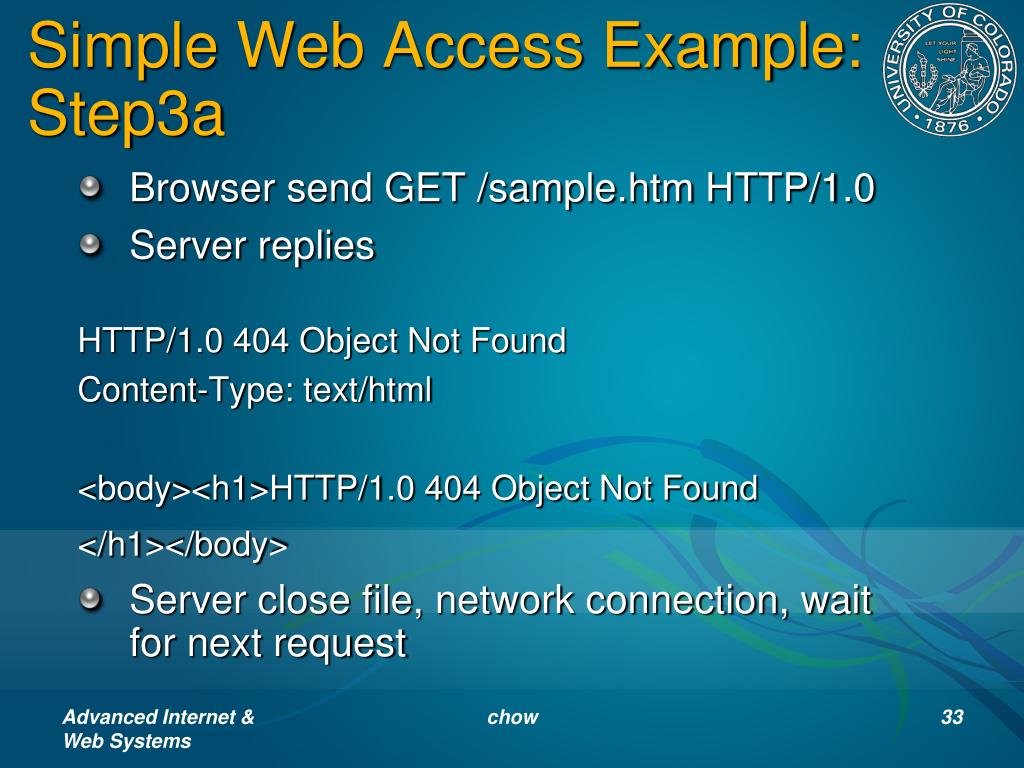 Simple Web Access Example: Step3a