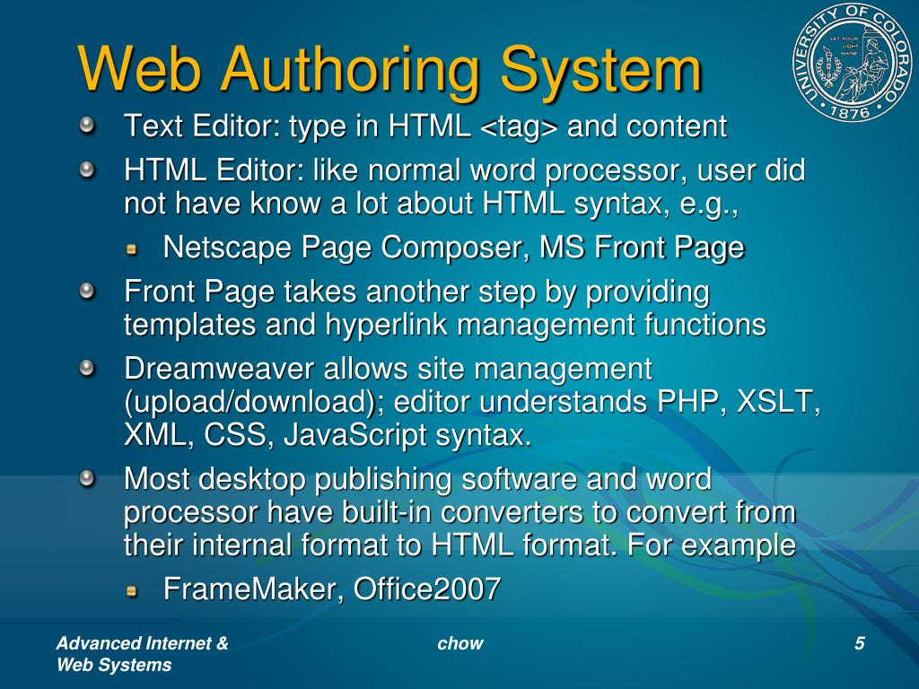 Web Authoring System