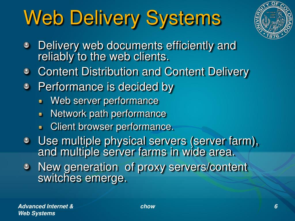 Web Delivery Systems