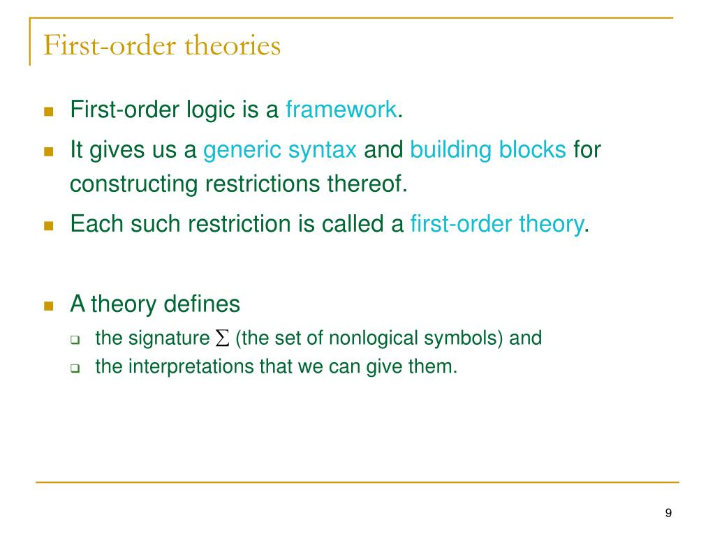 First-order theories