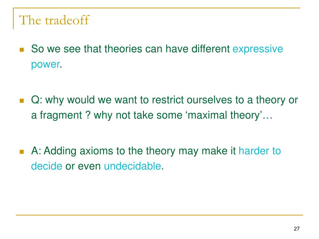 The tradeoff