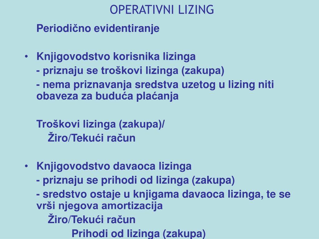 OPERATIVNI LIZING
