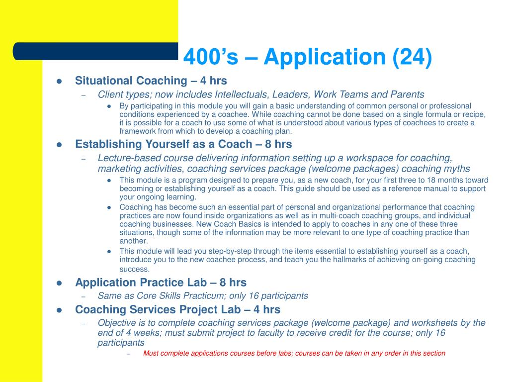 400's – Application (24)