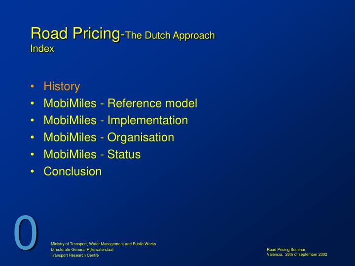 Road pricing the dutch approach index3