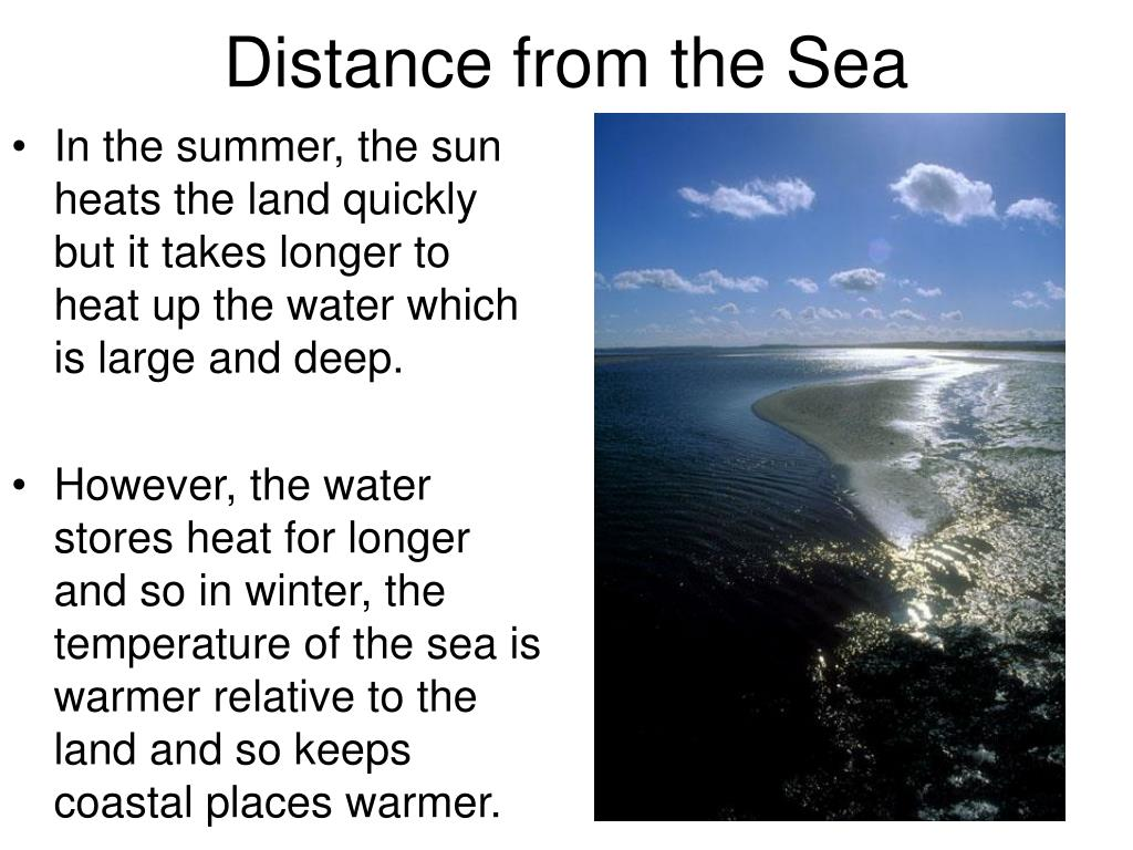 Distance from the Sea