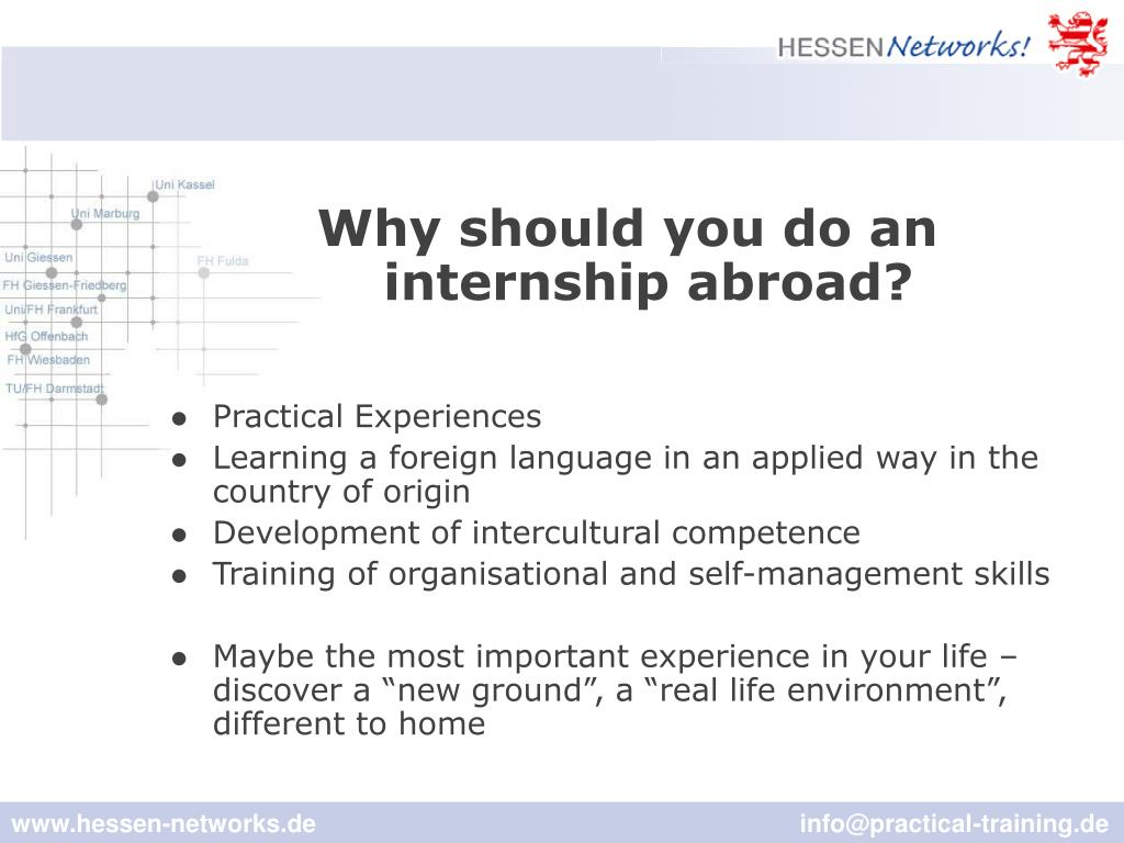 Why should you do an internship abroad?