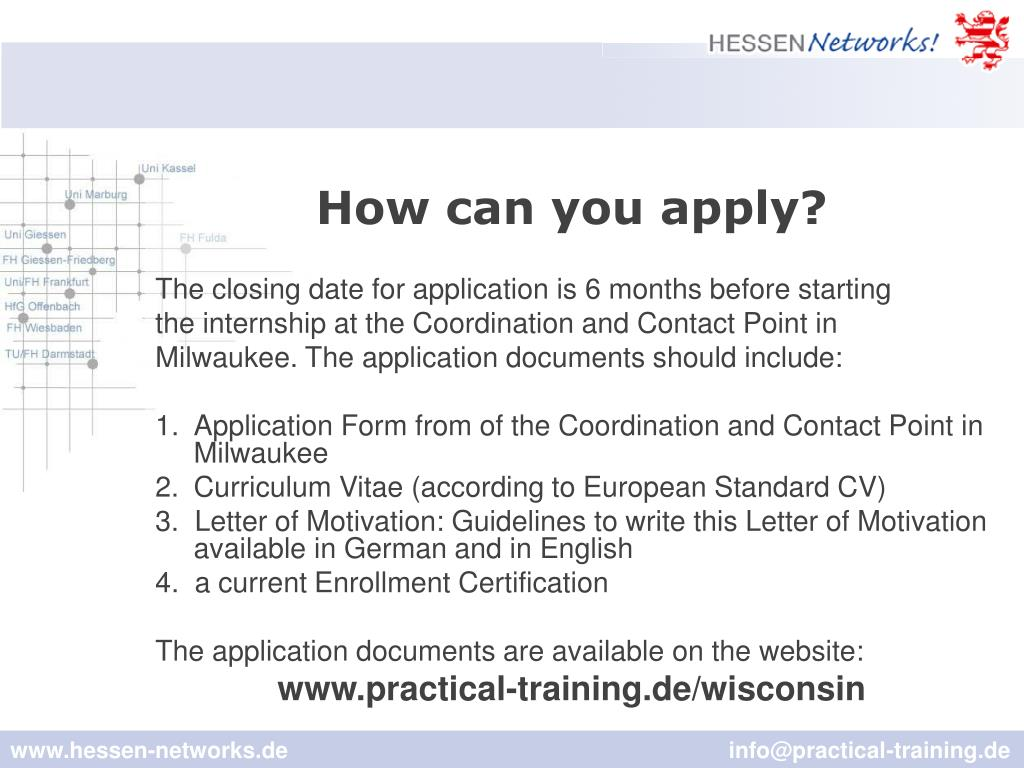 How can you apply?