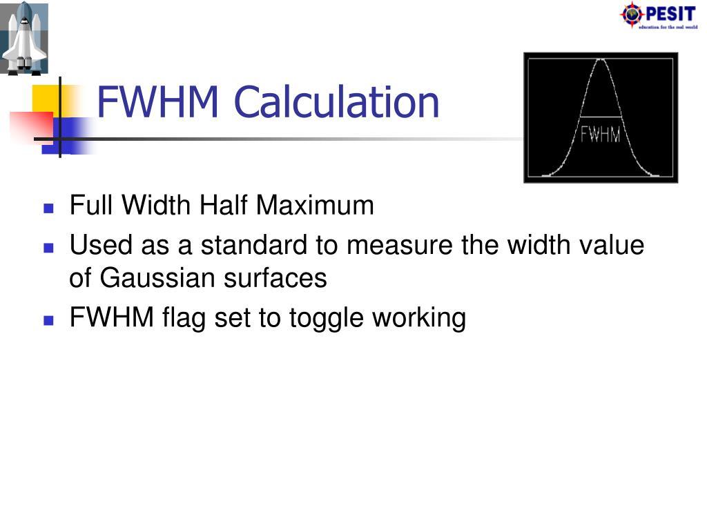 FWHM Calculation