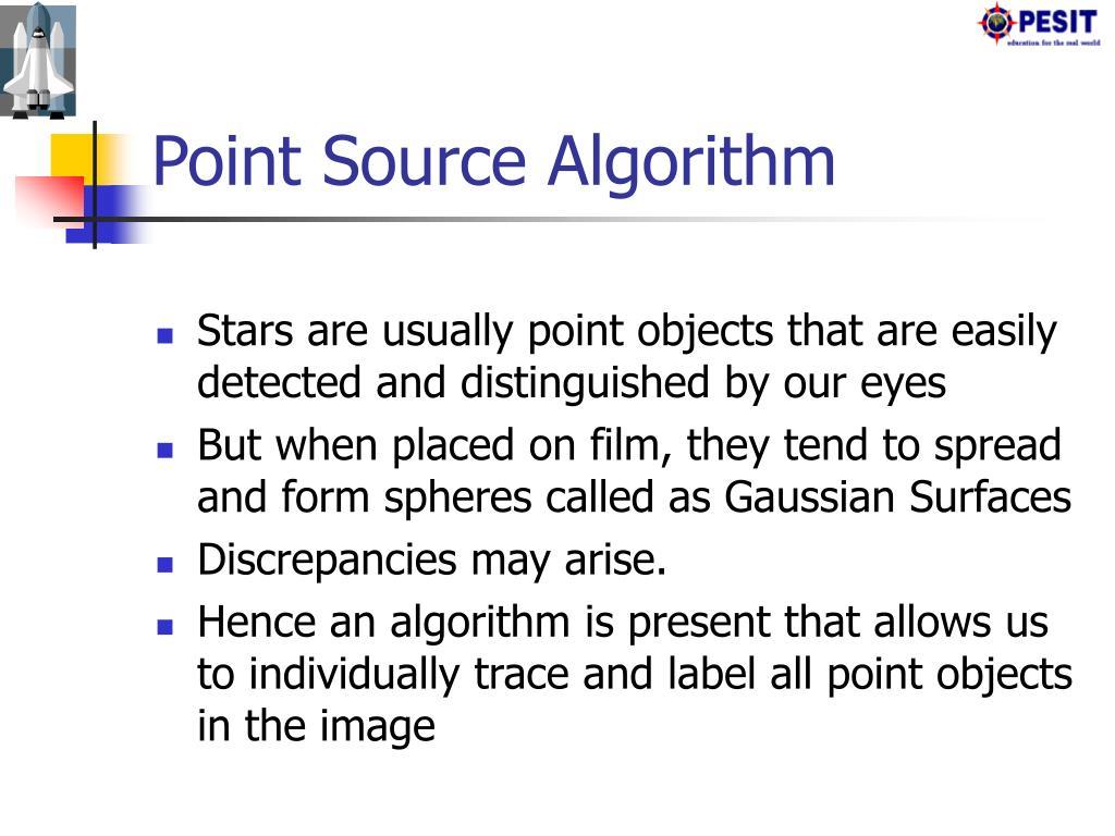 Point Source Algorithm