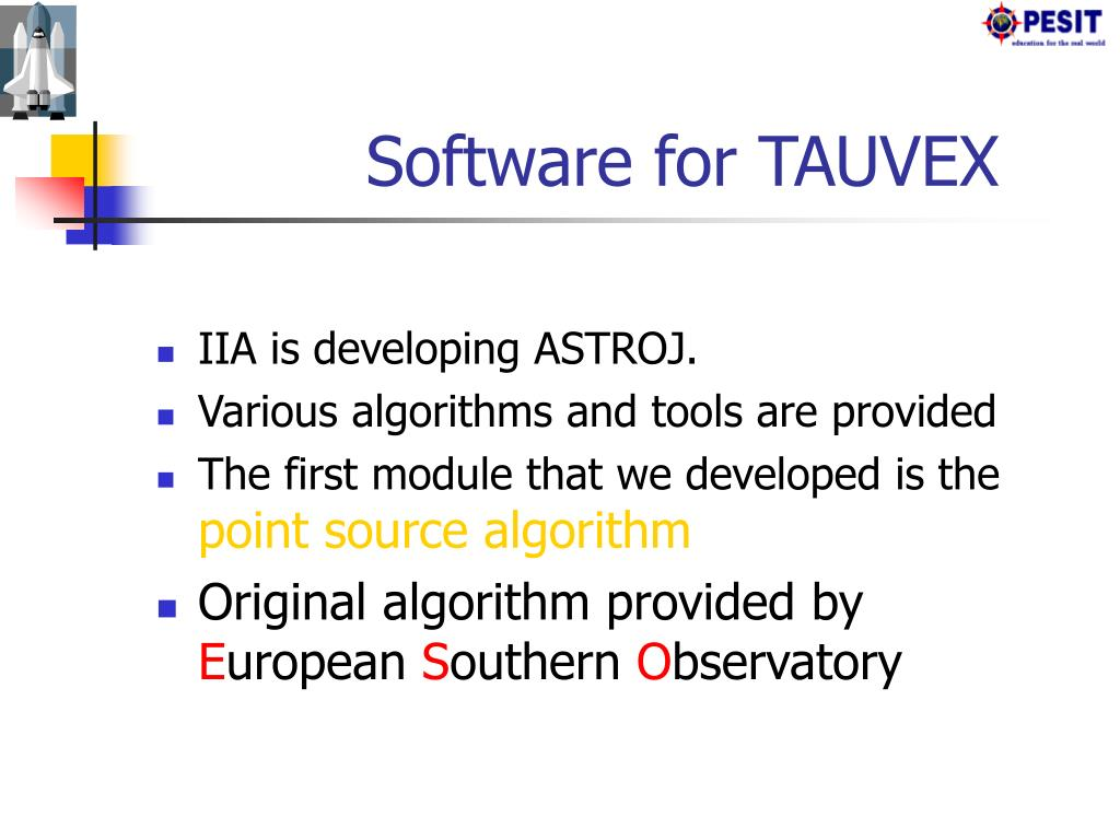 Software for TAUVEX