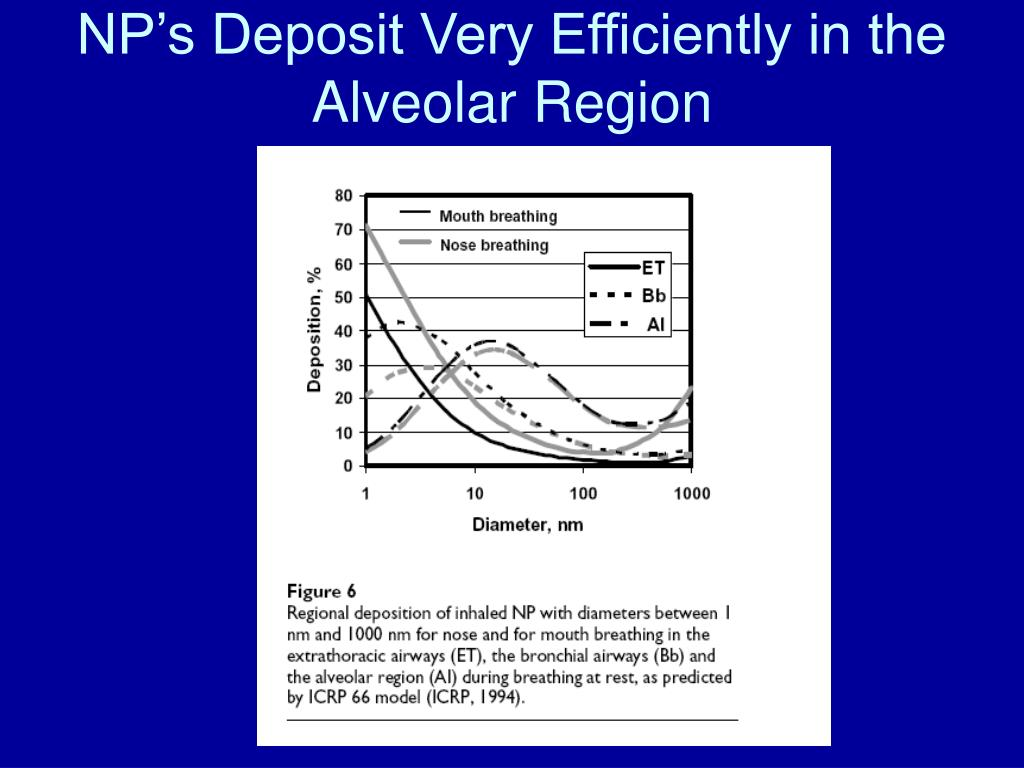 NP's Deposit Very Efficiently in the Alveolar Region