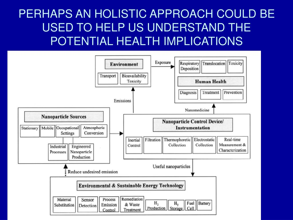 PERHAPS AN HOLISTIC APPROACH COULD BE USED TO HELP US UNDERSTAND THE POTENTIAL HEALTH IMPLICATIONS