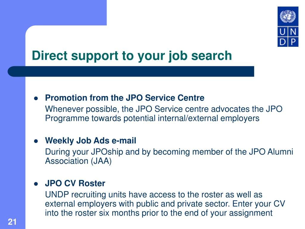 Direct support to your job search