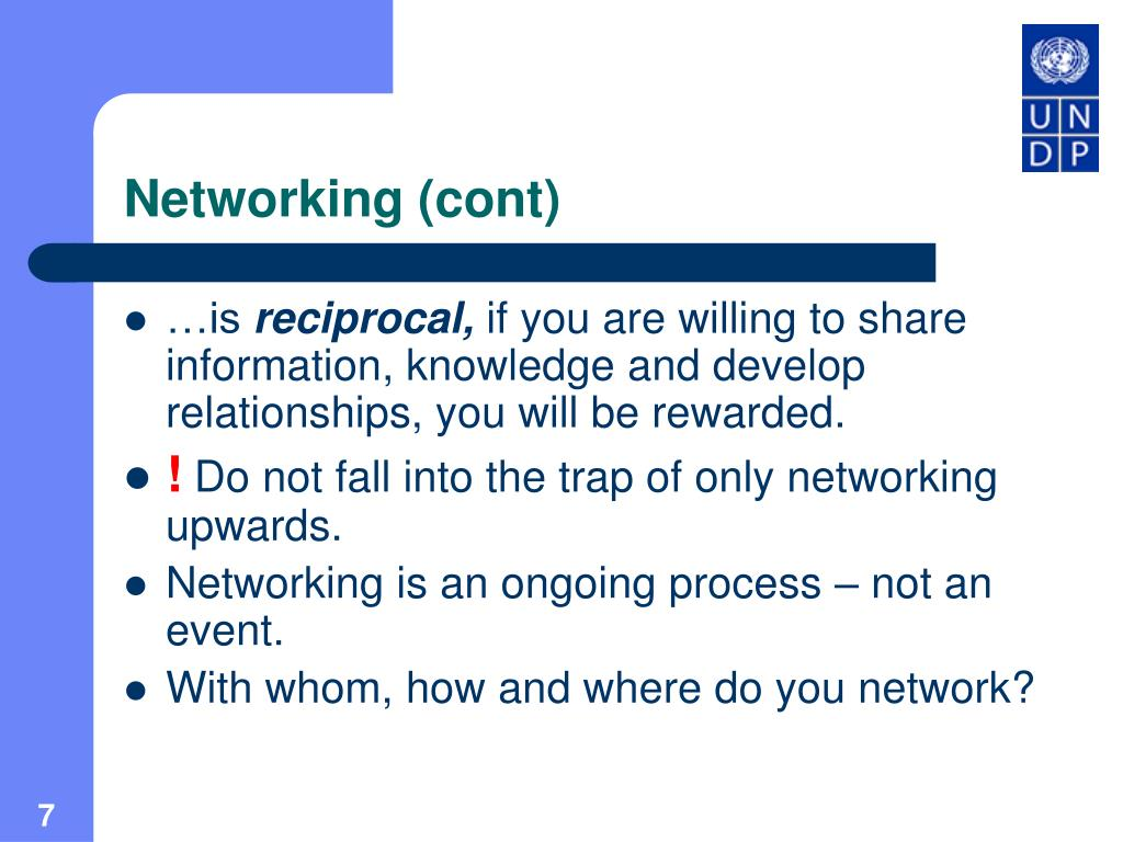 Networking (cont)