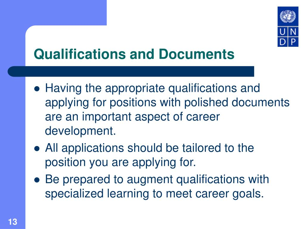 Qualifications and Documents