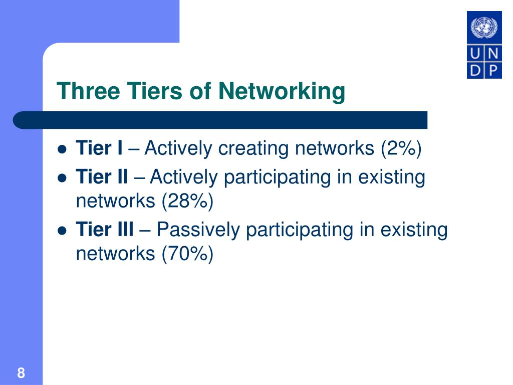Three Tiers of Networking