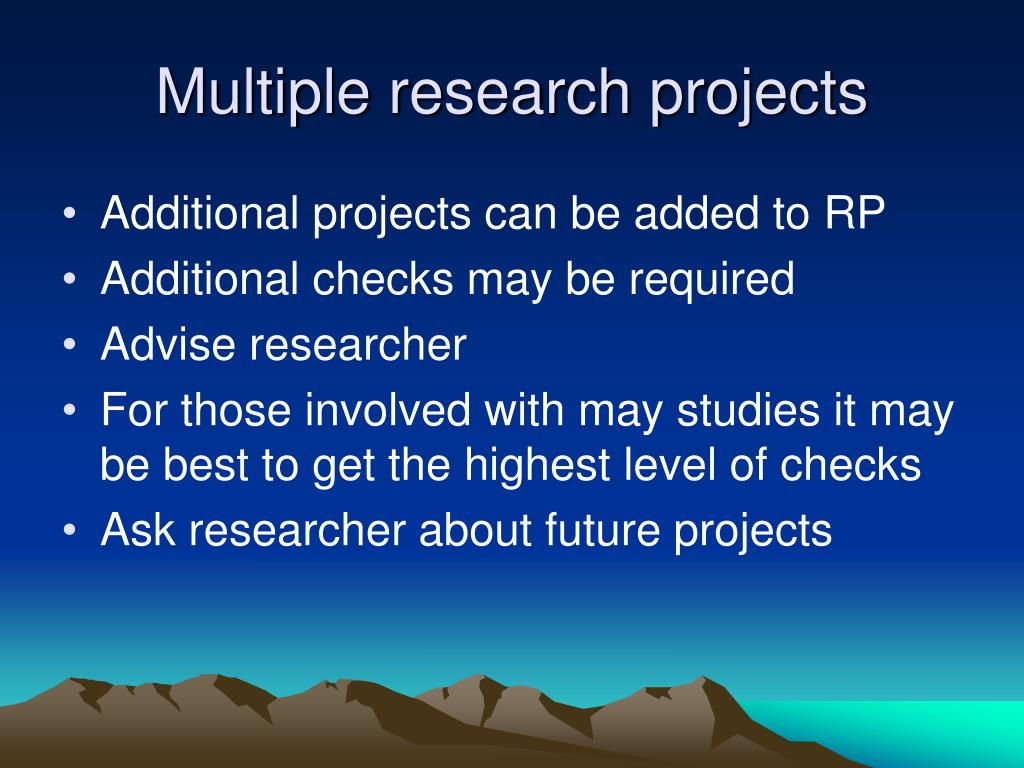 Multiple research projects