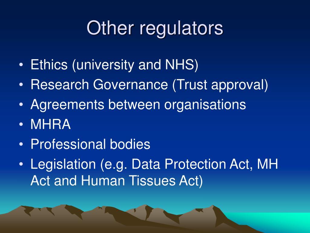 Other regulators