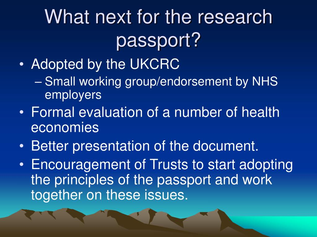What next for the research passport?