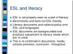 esl and literacy