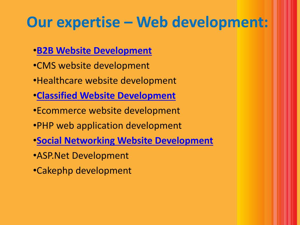 Our expertise – Web development: