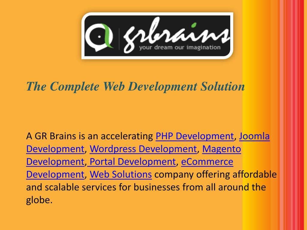 The Complete Web Development Solution